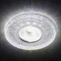 Точечный светильник Ambrella Черчио 1х50 Вт GU5,3+LED хром/хрусталь
