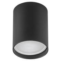 Точечный светильник Feron Круз 1х20 Вт GU10 черный накладной