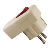 Вилка с заземлением с выключателем TDM ELECTRIC