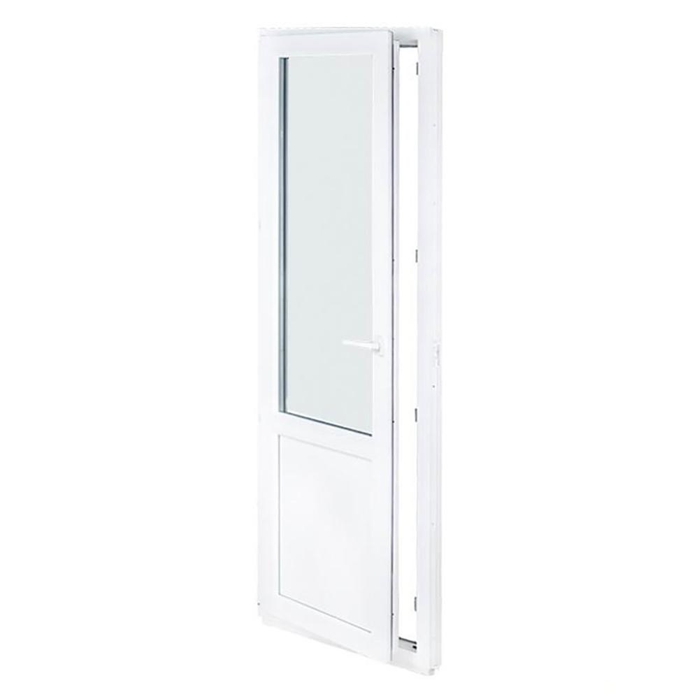 дверь пластиковая 700х2100 мм левая купить недорого в