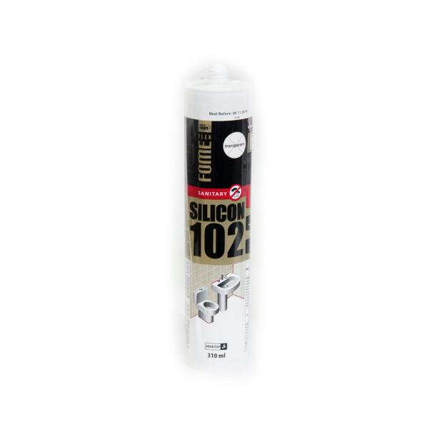 96a21f11cde4 Герметик силиконовый санитарный Fome Flex 102 прозрачный 310 мл ...