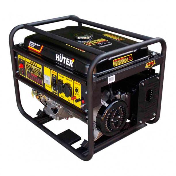 Генератор бензиновый huter dy6500l 5 квт сварочный аппарат маска сварщика