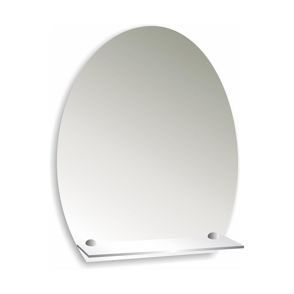 Купить Зеркало Уют с полочкой овальное 49х58 см, Мир зеркал