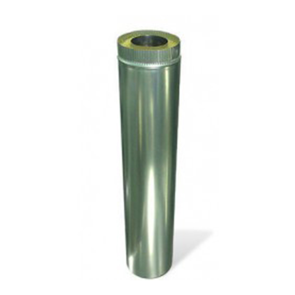 Дымоход утепленный 1000 мм 115/180 мм нержавеющая сталь/оцинкованная сталь